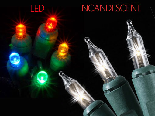 Led Vs Incandescent Lights Christmas Lighting Tulsa